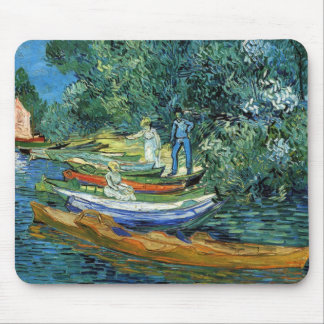 Van Gogh Rowing Boats on the Banks of the Oise Mouse Pad