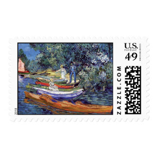 Van Gogh - Rowing Boats On The Banks Of The Oise Stamp