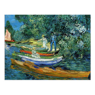 Van Gogh Rowing Boats on the Banks of the Oise Postcard