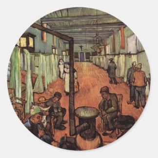 Van Gogh Sala en el hospital en Arles Etiqueta Redonda