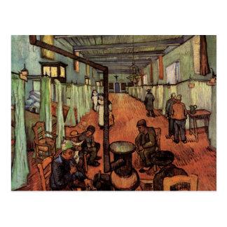 Van Gogh; Sala en el hospital en Arles Tarjeta Postal