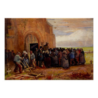 Van Gogh, Sale of Building Scrap, Vintage Fine Art Poster