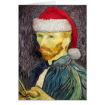 Van Gogh Santa Greeting Card