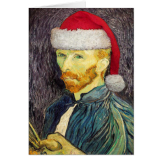 Van Gogh Santa Greeting Card