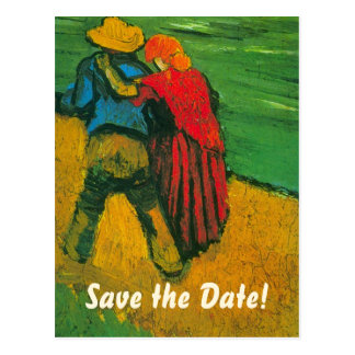 Van Gogh Save the Date! Two Lovers Postcard