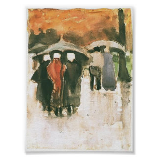 Van Gogh - Scheveningen Women etc Under Umbrellas Poster