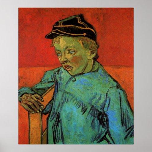 Van Gogh, Schoolboy (Camille Roulin), Vintage Art Poster