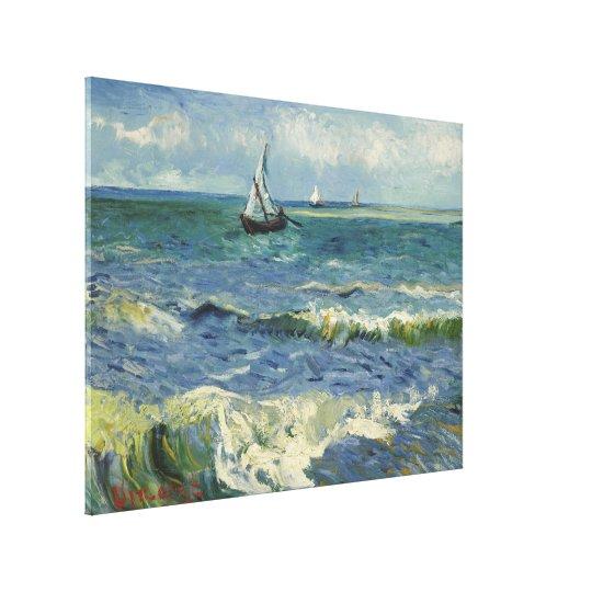 Van Gogh Seascape at Saintes Maries de la Mer Canvas Print