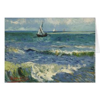 Van Gogh Seascape at Saintes-Maries F415 Greeting Card