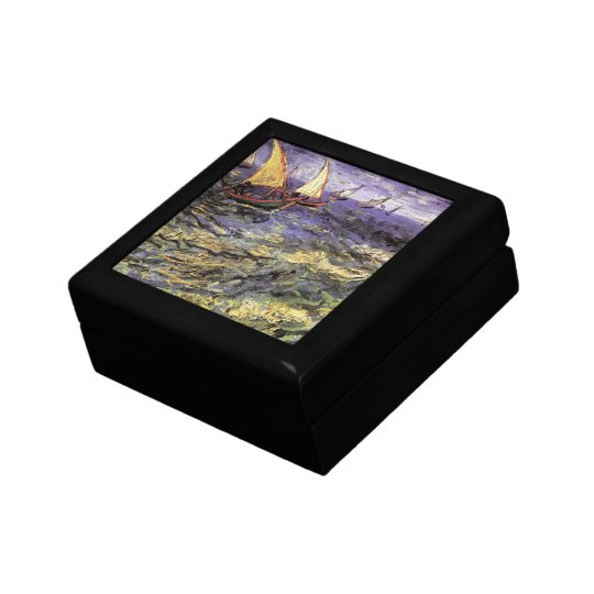 Van Gogh Seascape at Saintes Maries, Fine Art Jewelry Box