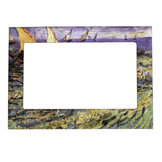 Van Gogh Seascape at Saintes Maries, Fine Art Magnetic Photo Frame