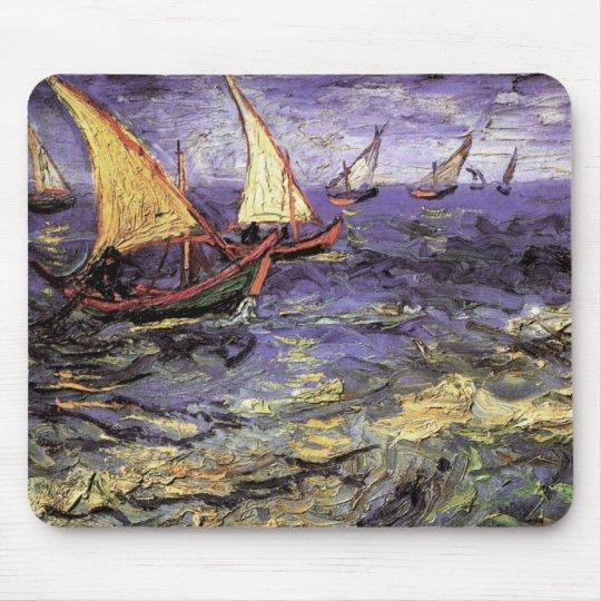 Van Gogh Seascape at Saintes Maries, Fine Art Mouse Pad