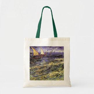 Van Gogh Seascape at Saintes Maries, Fine Art Tote Bag