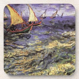 Van Gogh Seascape at Saintes Maries, Vintage Art Coasters
