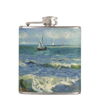 Van Gogh Seascape near Les Saintes Maries Mer Flask
