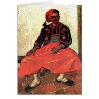 Van Gogh, Seated Zouave, Vintage Impressionism Art Card