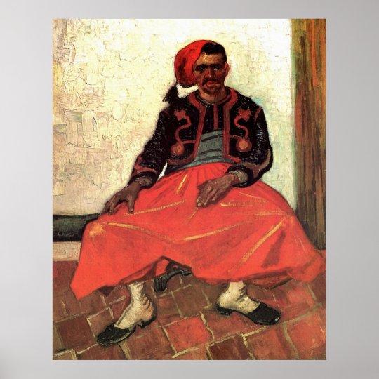 Van Gogh, Seated Zouave, Vintage Impressionism Art Poster