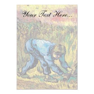 """Van Gogh - segador con la hoz (después de mijo) Invitación 5"""" X 7"""""""
