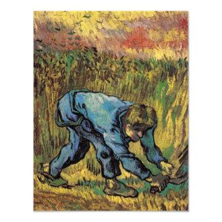 """Van Gogh; Segador con la hoz, granjero del vintage Invitación 4.25"""" X 5.5"""""""