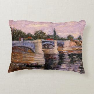 Van Gogh Seine Pont del Grande Jette, Fine Art Decorative Pillow