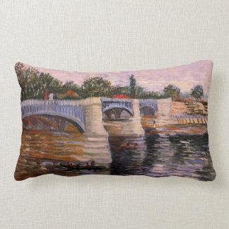 Van Gogh Seine Pont del Grande Jette, Fine Art Lumbar Pillow