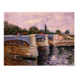 Van Gogh Seine Pont del Grande Jette, Fine Art Postcard
