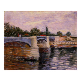 Van Gogh Seine Pont del Grande Jette, Fine Art Poster