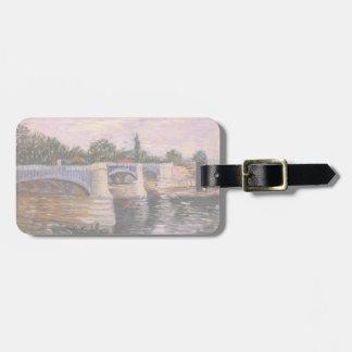 Van Gogh Seine Pont del Grande Jette, Fine Art Tags For Bags