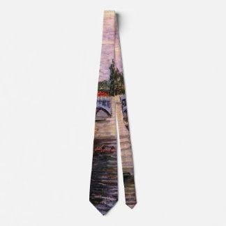 Van Gogh Seine Pont del Grande Jette, Fine Art Tie