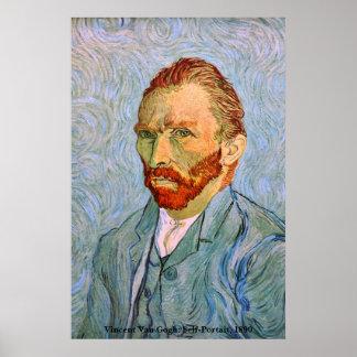 Van Gogh: Self-Portrait, 1890 Posters