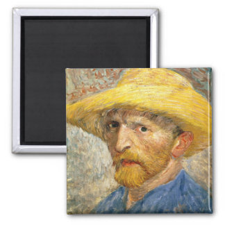 Van Gogh - Self-Portrait 2 Inch Square Magnet