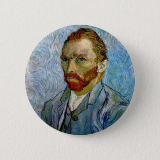Van Gogh Self Portrait Button