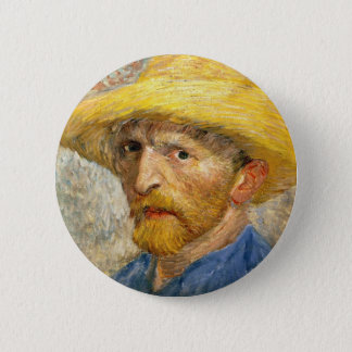 Van Gogh - Self-Portrait Button