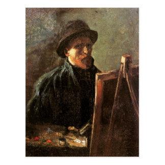 Van GoghSelf-Portrait, Dark Hat, Easel (F181) Postcard