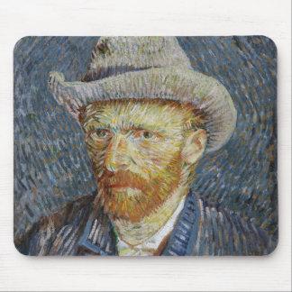 Van Gogh Self Portrait Grey Felt Hat Painting Art Mouse Pad