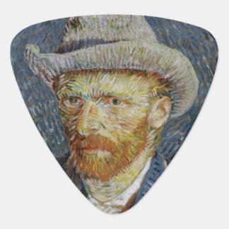 Van Gogh Self Portrait Grey Felt Hat Vintage Art Guitar Pick