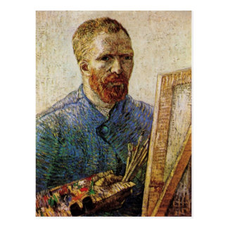 Van Gogh; Self Portrait in Front of the Easel Postcard