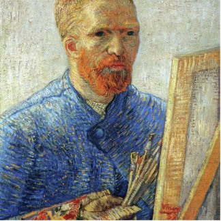 Van Gogh Self-Portrait in Front of the Easel Statuette