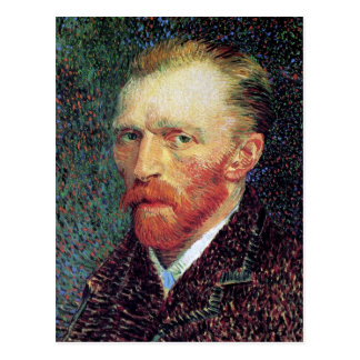 Van Gogh - Self-Portrait Pointillism Style Postcard