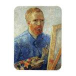 Van Gogh Self Portrait Rectangular Magnet
