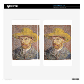 Van Gogh self portrait Skin For Kindle Fire