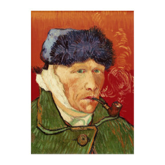 Van Gogh Self-portrait with Bandaged Ear and Pipe Acrylic Wall Art