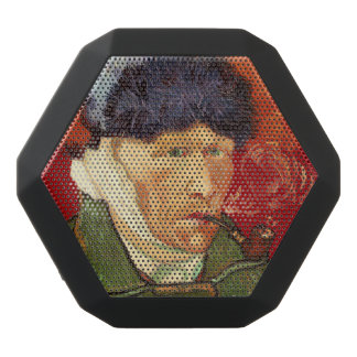 Van Gogh Self-portrait with Bandaged Ear and Pipe Black Bluetooth Speaker