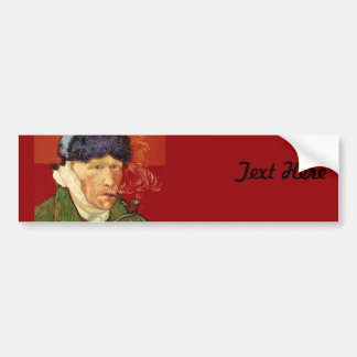 Van Gogh Self-portrait with Bandaged Ear and Pipe Bumper Sticker
