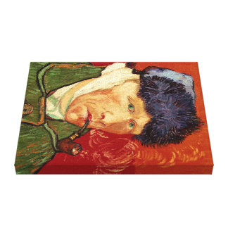 Van Gogh Self-portrait with Bandaged Ear and Pipe Canvas Print