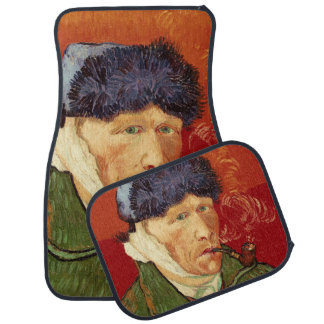 Van Gogh Self-portrait with Bandaged Ear and Pipe Car Mat