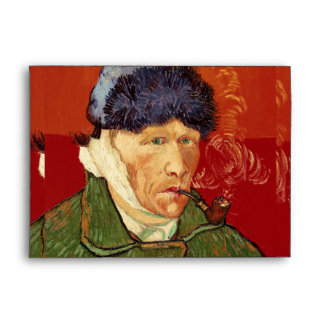 Van Gogh Self-portrait with Bandaged Ear and Pipe Envelope
