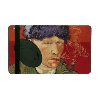 Van Gogh Self-portrait with Bandaged Ear and Pipe iPad Case
