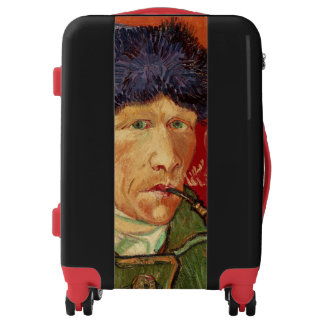 Van Gogh Self-portrait with Bandaged Ear and Pipe Luggage
