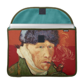 Van Gogh Self-portrait with Bandaged Ear and Pipe MacBook Pro Sleeve